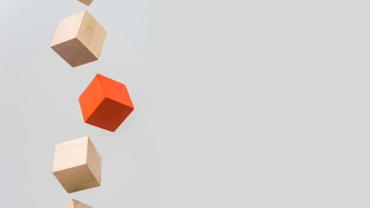 Orange wooden block