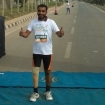 Rajesh Gowda at the finish line