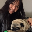 Christine Leong and her dog