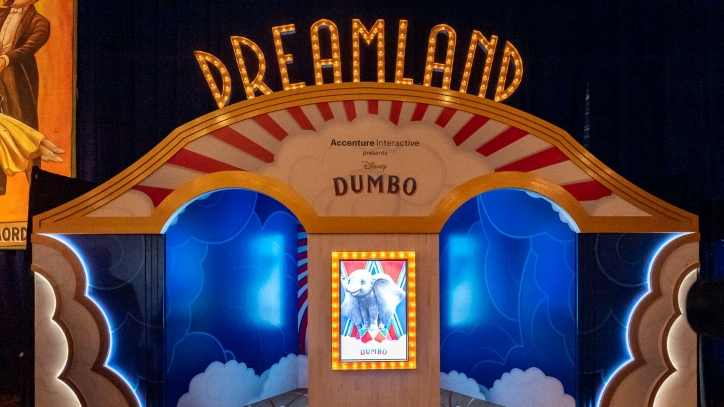 Movie marquee with Dumbo poster