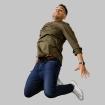 Luis Gonzalez jumping