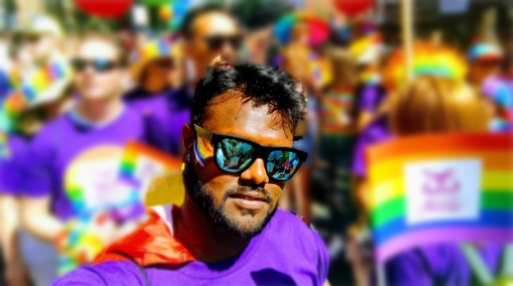 Saptarshi Mallik at Pride parade