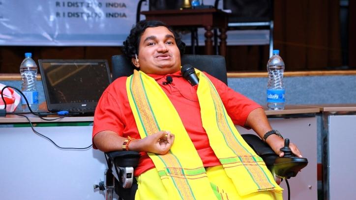 Sai Kaustuv Dasgupta at speaking engagement
