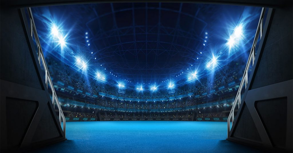 Lights in a football field