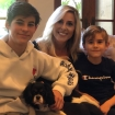 Ginny Ziegler with sons and dog