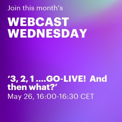 3, 2, 1 ….GO-LIVE! And then what?   Accenture Webcast